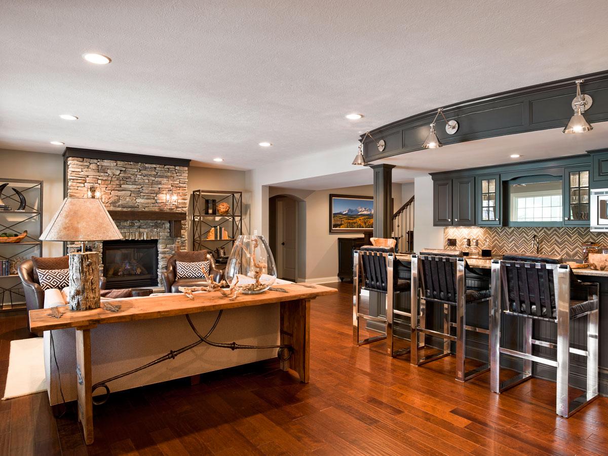 Courtney Casteel, Interior Design - basement design