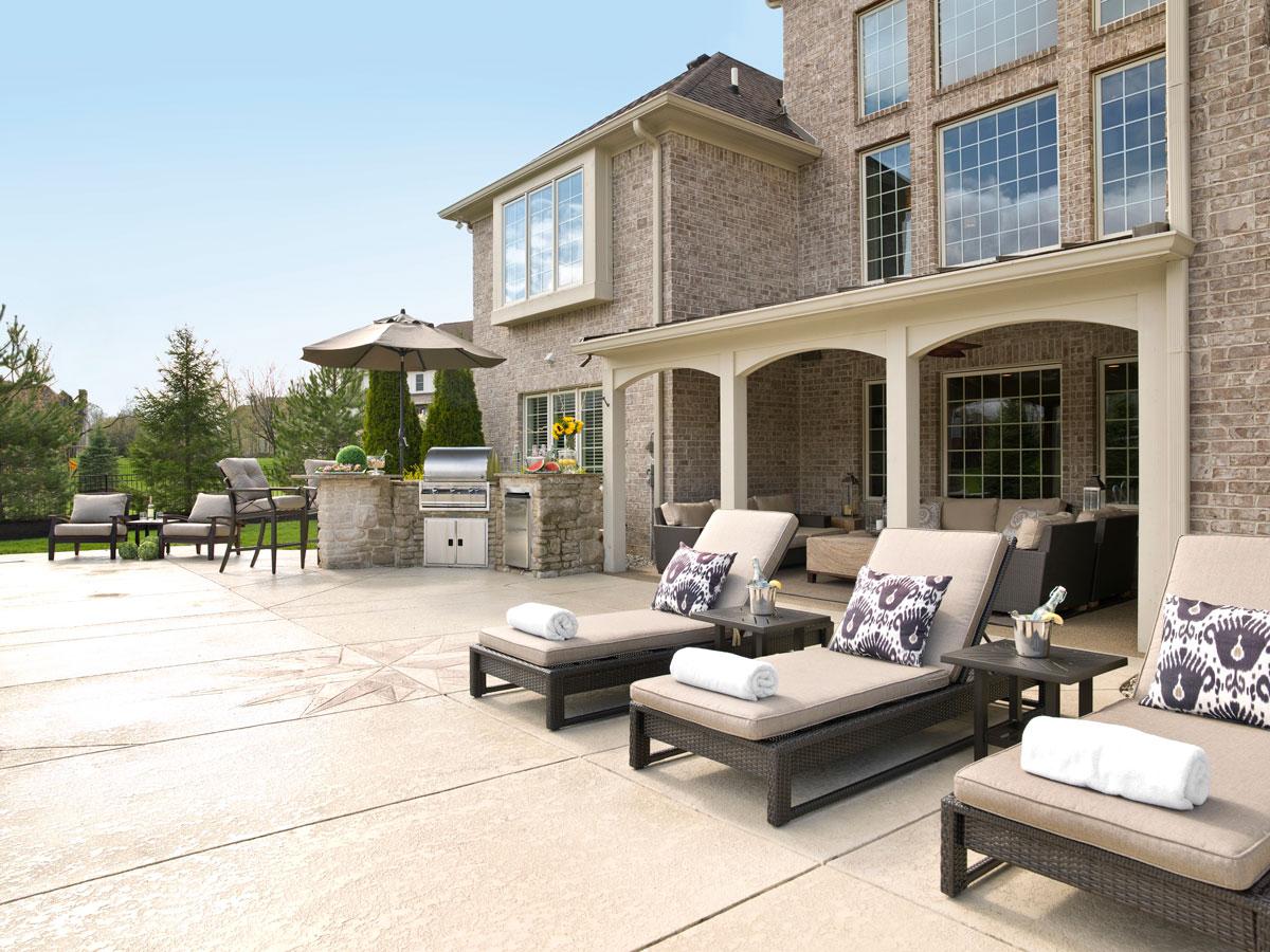 Courtney Casteel, Interior Design -poolside seating
